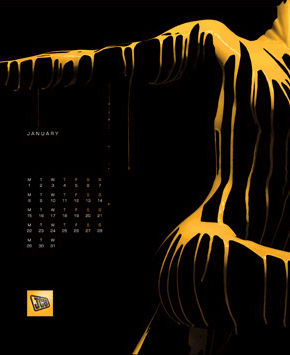 Calendar senzual JCB