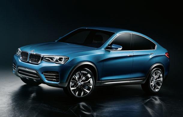 BMW X4 Concept: fotografiile oficiale cu fratele mai mic al lui X6 - Poza 1