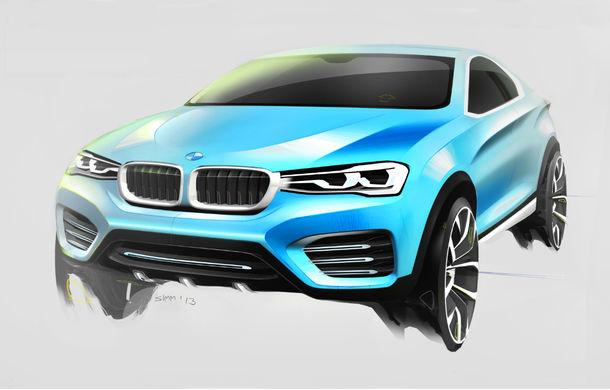 BMW X4 Concept: fotografiile oficiale cu fratele mai mic al lui X6 - Poza 6