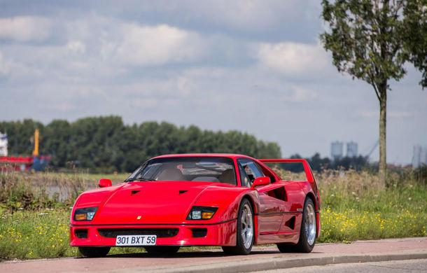 Un Ferrari F40 aparţinând lui Nigel Mansell s-a vândut pentru aproape 700.000 de euro - Poza 1