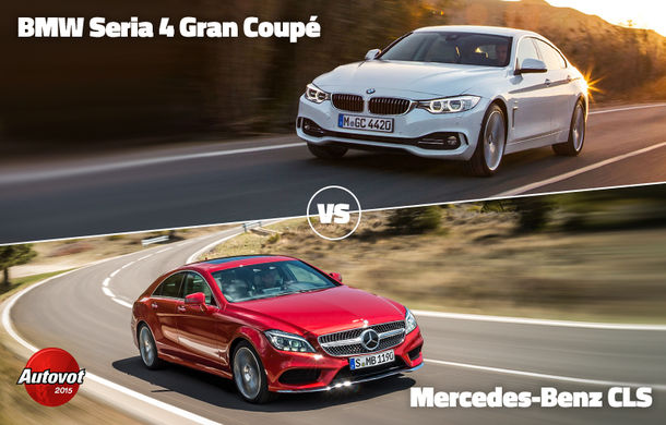 Duelurile zilei în Autovot 2015: Mercedes CLS vs. BMW Seria 4 Gran Coupe şi Ford Focus facelift vs. Ssangyong Korando facelift - Poza 1