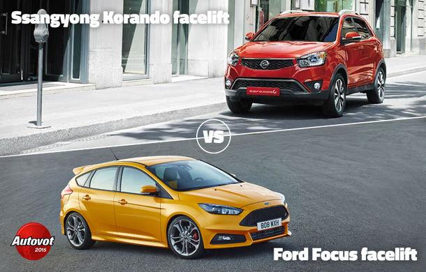 Duelurile zilei în Autovot 2015: Mercedes CLS vs. BMW Seria 4 Gran Coupe şi Ford Focus facelift vs. Ssangyong Korando facelift - Poza 2