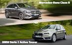 Duelul zilei în Autovot 2015: BMW Seria 2 Active Tourer își înfruntă rivalul Mercedes-Benz B-Klasse în lupta dintre monovolumele compacte premium