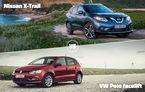 Meci inedit astăzi în Autovot: Nissan X-Trail se luptă cu VW Polo facelift