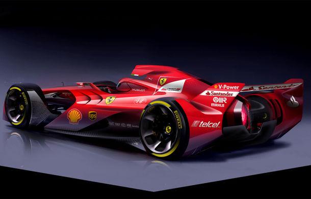 Ferrari publică imagini cu un concept agresiv pentru monoposturile de Formula 1 - Poza 2