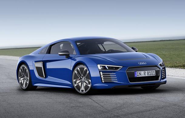 Audi R8 e-tron: 3.9 secunde pentru 0-100 km/h şi 450 de kilometri autonomie pentru sportiva electrică Audi - Poza 1