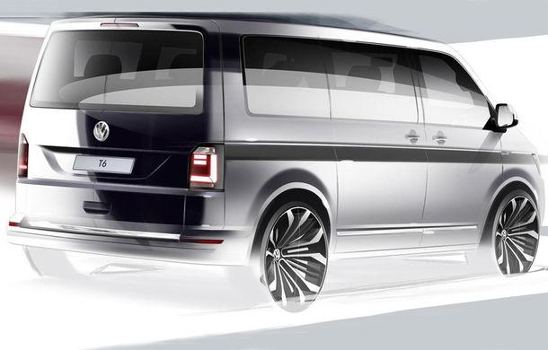 Volkswagen Transporter T6: prima schiţă a noii generaţii - Poza 1