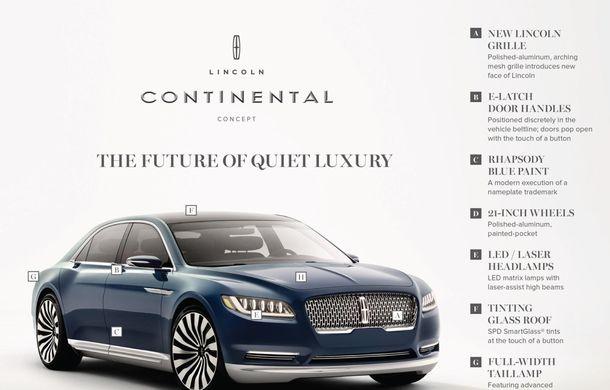 Lincoln Continental Concept prefaţează viitorul mărcii americane - Poza 9