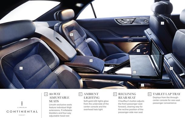 Lincoln Continental Concept prefaţează viitorul mărcii americane - Poza 11