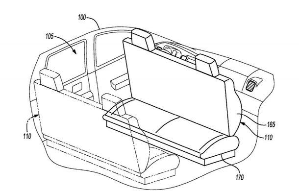 Ford a patentat o mașină autonomă care transformă interiorul în birou mobil în timpul mersului - Poza 2