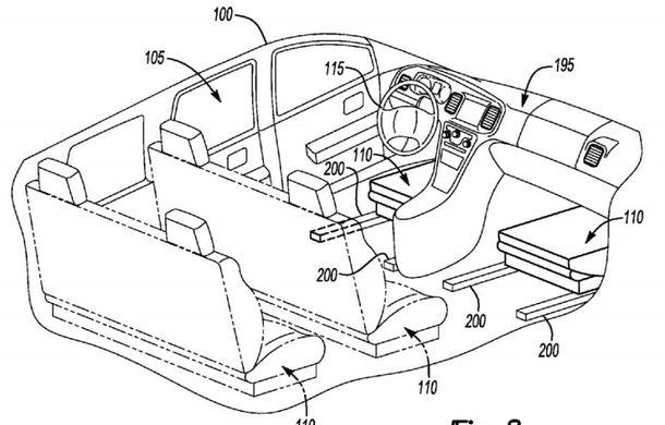 Ford a patentat o mașină autonomă care transformă interiorul în birou mobil în timpul mersului - Poza 3