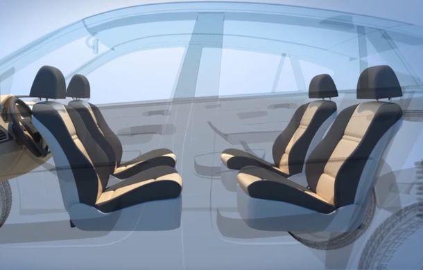 Ford a patentat o mașină autonomă care transformă interiorul în birou mobil în timpul mersului - Poza 1