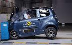 EuroNCAP a testat cvadriciclurile, vehiculele care pot fi conduse de la 16 ani: punctaj maxim de două stele