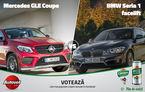 David versus Goliat astăzi în Autovot 2016: BMW Seria 1 și Mercedes GLE Coupe se bat în competiția popularității