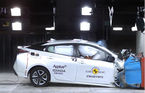 Primul test de siguranţă EuroNCAP pentru sistemul de frânare de urgenţă la detectarea ...