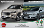 Primele semifinale Autovot 2016 se joacă azi: Hyundai Tucson vs. Renault Talisman și Mercedes AMG GT vs. GLE Coupe