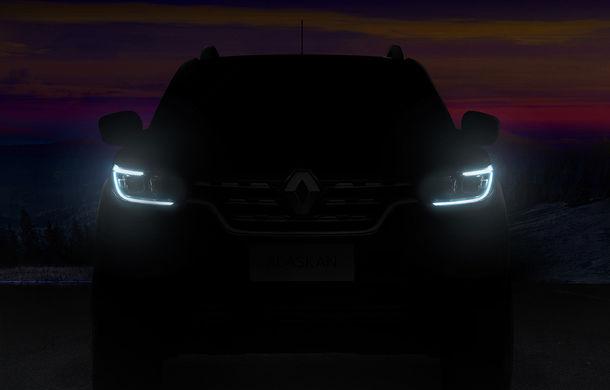 Renault Alaskan, noul pick-ul al constructorului francez, îşi arată colţii într-un teaser înaintea lansării oficiale - Poza 1