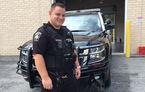Dezastru împiedicat: un polițist american e erou în Statele Unite după ce a îndepărtat o mașină în flăcări dintr-o benzinărie