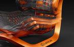 Scaunul auto al viitorului imaginat de Lexus: spătar cinetic care se adaptează la forma corpului şi forţele externe