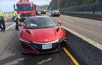 Un jurnalist auto din Taiwan este primul șofer care avariază noul Honda NSX. Cauza accidentului? O albină