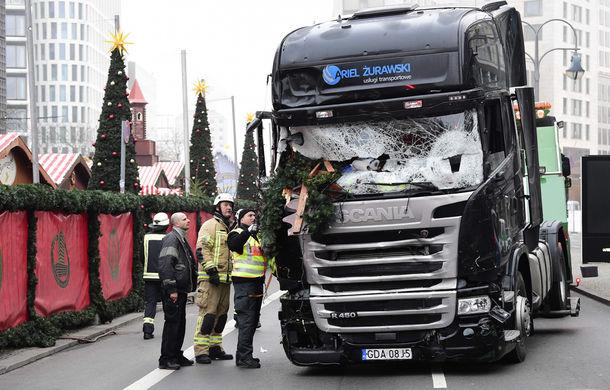 Sistemul de frânare automată al camionului Scania a limitat proporțiile atentatului terorist de la Berlin - Poza 1