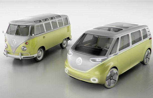 Celebrul VW Bus renaște în versiune electrică și autonomă: I.D. Buzz Concept are 600 de kilometri autonomie și 6 locuri pentru pasageri - Poza 1