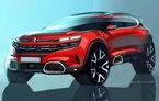 Primele schiţe cu noul Citroen C5 Aircross: SUV-ul păstrează designul îndrăzneţ al conceptului