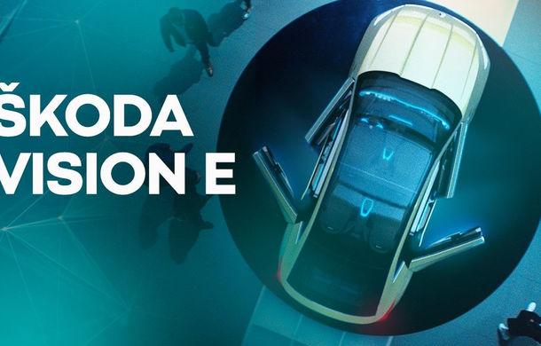 Skoda Vision E: imagini și informații oficiale cu prototipul electric de 300 de cai putere - Poza 5