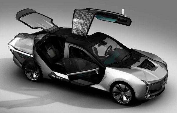 Ce se naște când amesteci designul chinezesc cu tehnologia suedeză: Qoros K-EV este un concept cu uși care se deschid ciudat, dar cu 870 de cai oferiți de Koenigsegg - Poza 1
