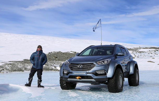 Un Hyundai Santa Fe și strănepotul exploratorului Ernest Shackelton au reușit să traverseze Antarctica - Poza 1