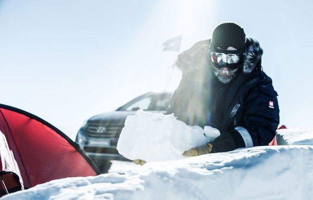 Un Hyundai Santa Fe și strănepotul exploratorului Ernest Shackelton au reușit să traverseze Antarctica - Poza 6