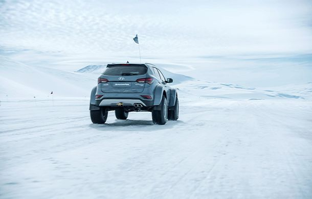 Un Hyundai Santa Fe și strănepotul exploratorului Ernest Shackelton au reușit să traverseze Antarctica - Poza 2