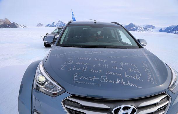 Un Hyundai Santa Fe și strănepotul exploratorului Ernest Shackelton au reușit să traverseze Antarctica - Poza 17