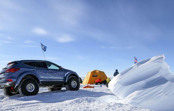 Un Hyundai Santa Fe și strănepotul exploratorului Ernest Shackelton au reușit să traverseze Antarctica - Poza 16