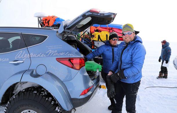 Un Hyundai Santa Fe și strănepotul exploratorului Ernest Shackelton au reușit să traverseze Antarctica - Poza 15