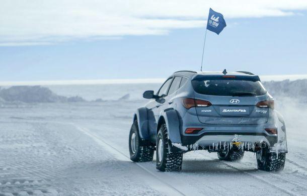 Un Hyundai Santa Fe și strănepotul exploratorului Ernest Shackelton au reușit să traverseze Antarctica - Poza 3