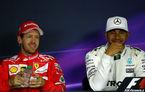 """Hamilton admite că lupta pentru titlu ar putea afecta prietenia cu Vettel: """"Era supărat că a pierdut cursa"""""""