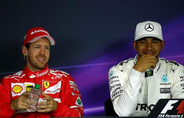 """Hamilton admite că lupta pentru titlu ar putea afecta prietenia cu Vettel: """"Era supărat că a pierdut cursa"""" - Poza 1"""