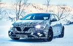 Imagini proaspete cu noul Renault Megane RS: sportiva franceză înfruntă zăpada sub camuflaj