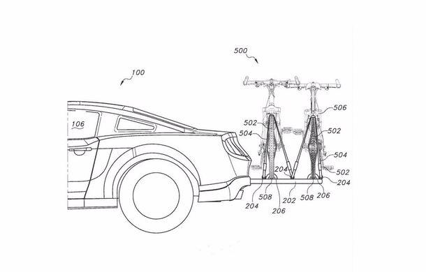 Ford Mustang ar putea deveni cel mai bun prieten al bicicliștilor: inginerii au patentat un suport retractabil pentru biciclete - Poza 1