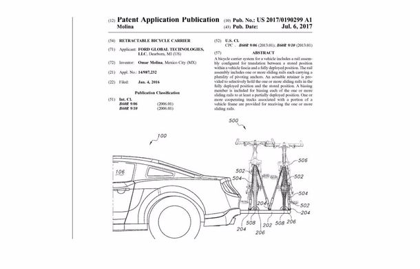 Ford Mustang ar putea deveni cel mai bun prieten al bicicliștilor: inginerii au patentat un suport retractabil pentru biciclete - Poza 4