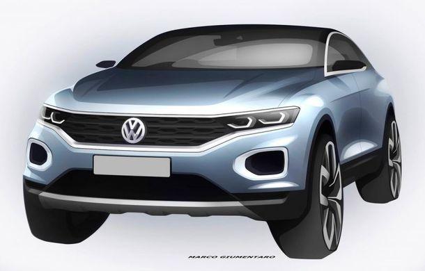 Volkswagen continuă campania de teasing a SUV-ului T-Roc: două schițe noi cu fratele mai mic al lui Tiguan - Poza 1
