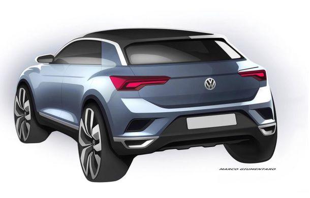 Volkswagen continuă campania de teasing a SUV-ului T-Roc: două schițe noi cu fratele mai mic al lui Tiguan - Poza 2