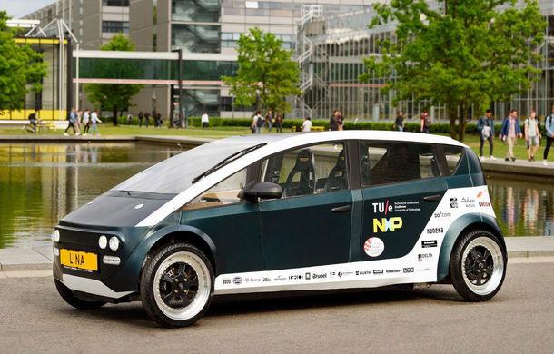 Mașina biodegradabilă a fost inventată în Olanda: Lina este electrică și a fost construită din sfeclă de zahăr și pânză de in - Poza 1
