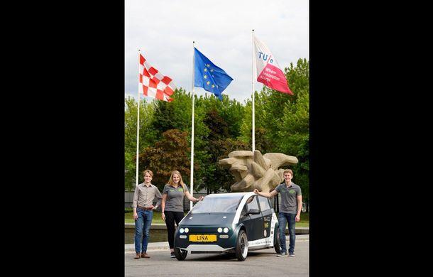 Mașina biodegradabilă a fost inventată în Olanda: Lina este electrică și a fost construită din sfeclă de zahăr și pânză de in - Poza 5
