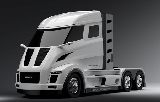 Un nou rival pentru Tesla: americanii de la Nikola promit un camion alimentat cu hidrogen cu autonomie de 2.000 de kilometri - Poza 1