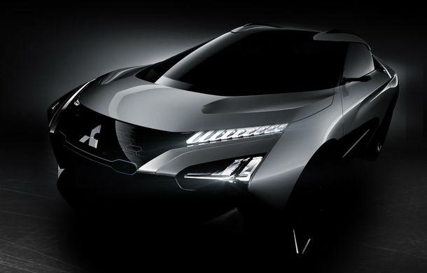 Mitsubishi e-Evolution Concept: Japonezii ne arată un nou teaser pentru SUV-ul coupe electric și autonom - Poza 1