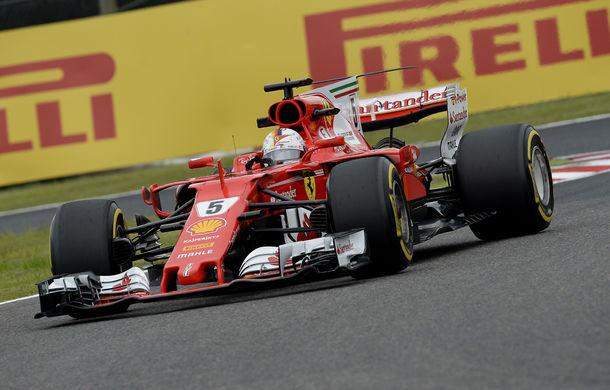 Antrenamente Suzuka: Vettel, cel mai rapid în prima sesiune. Hamilton, cel mai bun timp pe ploaie - Poza 1