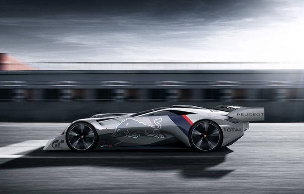Prototip pentru pasionații de jocuri video: Peugeot a prezentat noul L750 R Hybrid Vision Gran Turismo - Poza 5