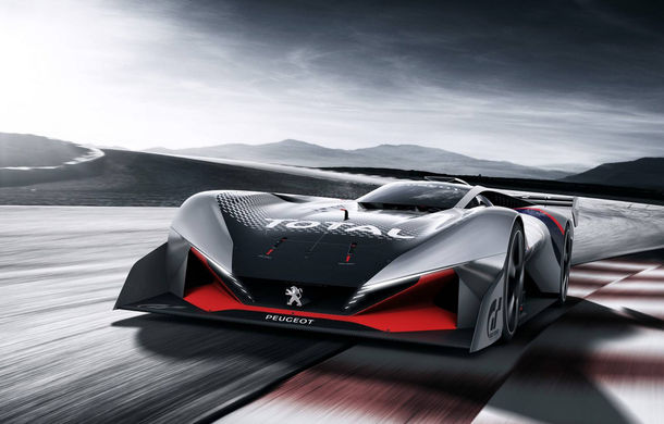 Prototip pentru pasionații de jocuri video: Peugeot a prezentat noul L750 R Hybrid Vision Gran Turismo - Poza 1